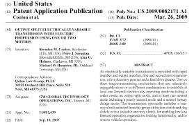 gm patent application may be for the chevrolet volt u0027s transmission