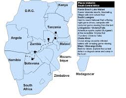 Africa Map Rivers Z For Zambia M U0026m World Trip
