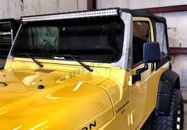 jeep wrangler tj light bar jeep tj windshield mount 97 06
