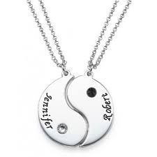 custom necklaces for couples engraved yin yang necklace for couples