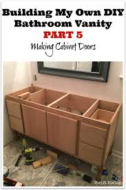 How To Build A Diy by How To Build A Bathroom Vanity Homemade Bathroom Cabinet Building