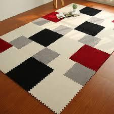 Diy Area Rug Yazi Diy Colorful Puzzle Mat Foam Shaggy Carpet Doormat Jigsaw