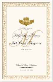 wedding programs with pictures gold claddagh wedding program celtic wedding ceremony