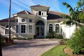 Florida Mediterranean Style Homes - mediterranean home design with cream wall paint color ideas home