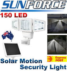 sunforce solar motion security light new sunforce 150 led solar motion security light activated light by