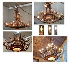 How To Make Deer Antler Chandelier Cabin Chandelier Otbsiu Com
