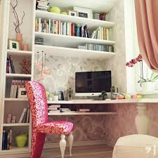 White Study Desks by Bedroom Soft Grey And Pink Feminine And Girly Bedroom Decor
