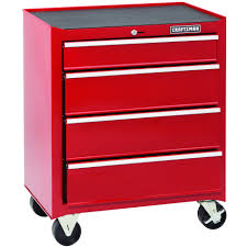 Tool Storage Cabinets Craftsman 26 In 4 Drawer Standard Duty Ball Bearing Rolling