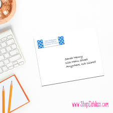 complement your stationery with these custom return address labels