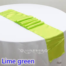 lime green table runner wedding decoration table runner satin table runner lime green colour