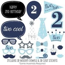 birthday boy two much boy 2nd birthday party photo booth props kit 20