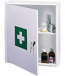 Lockable Medical Cabinets Rottner Mk2 Medical First Aid Lockable Cabinet Amazon Co Uk Diy
