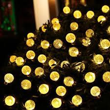 amazon com qedertek globe outdoor solar string lights 20ft 30 led