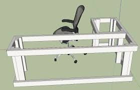 Free Wood Office Desk Plans by Diy L Shape Computer Desk Woodworking Talk Woodworkers Forum