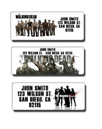 walking dead return address labels custom personalized name