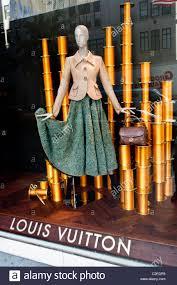 louis vuitton luxury fashion designer store at fifth avenue stock