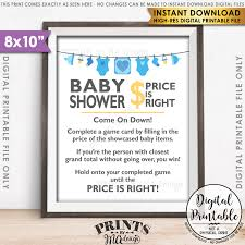 price is right baby shower price is right baby shower sign guess the prices activity