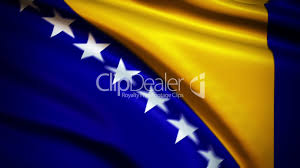 Flag With Yellow Star Waving Flag Bosna I Hercegovina Punchy Lizenzfreie Stock Videos