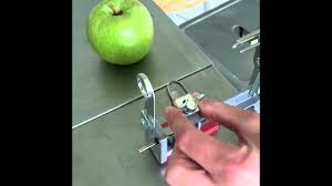 pam chef apple peeler adjusting the blade on pered chef apple peeler corer slicer
