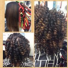 flexi rod stretch long 4b c hair flexi rod set on natural hair blow dried hair pinterest