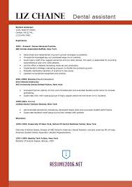 Good Dental Assistant Resume The Best Format For Resume Examples 2016 Recentresumes Com