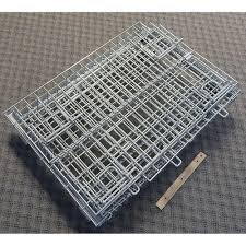 collapsible stackable folding wire mesh storage bin container cage
