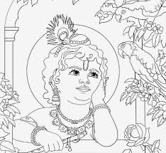 baby krishna full sketch sketch image of small krishna baby