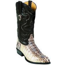 wild west j toe natural caiman alligator tail cowboy bo