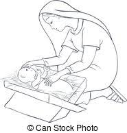 jesus in the manger coloring page vector of coloring page jesus carrying cross outlined