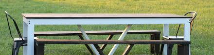 How To Make A Picnic Table Bench Cover by How To Build A Modern Diy Farmhouse Table Life Storage Blog