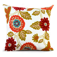 hyha embroidery cotton cushion cover high quality bohemian floral