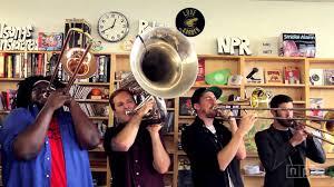 npr small desk no bs brass band npr music tiny desk concert youtube