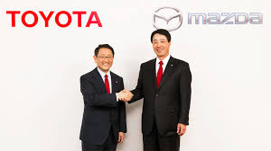 toyota motor group joint press conference of toyota motor corporation and mazda motor