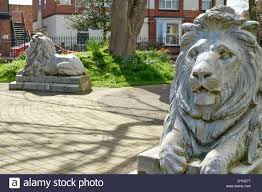 lions statues lion statues rescued from the criterium cinema in hull by hornsea