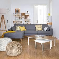 canapé d angle bois canapé d angle atlane fixe coton 2 coussins additionnels et des