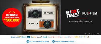 blibli fuji shop blibli com promo shoot time x fujifilm diskon kamera hingga rp