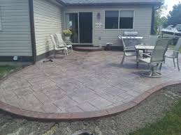 Cost Of Patio Pavers by Cost For Concrete Patio Overlay Poured Fabulous Decorative