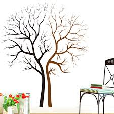 compare prices on tree wall art sticker online shopping buy low two naked trees wall art mural decal sticker living room bedroom background loving tree wall decor