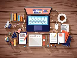 Organized Desk Royalty Free Organized Desk Clip Vector Images