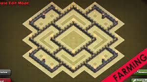 layout design th7 clash of clans th7 farming base 3 air defenses hybrid base