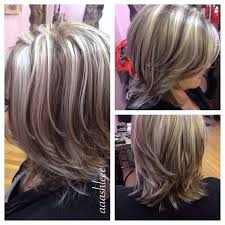 how to blend grey hair with highlights putting lowlights in graying hair hairstylegalleries com hair