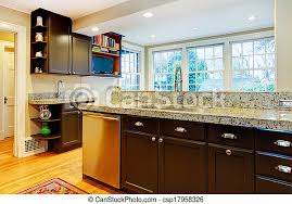 black kitchen cabinets with marble countertops kitchen design black wood cabinets marble counter top