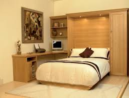 Murphy Bed Jefferson Library Oak Wallbed With Desk Area And Storage Classy Space Saving