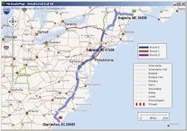 map with driving directions pc miler view and print route map and directions axon