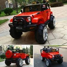 kids red jeep baby convertible car ride on toys double seats jeep kids electric