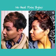 how to no heat pixie style youtube