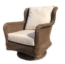 Martha Stewart Wicker Patio Furniture - bayshore outdoor wicker swivel chair wicker patio furniture
