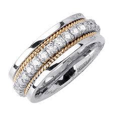 wedding ring depot 1 00ct tcw platinum gold two tone rope braid band 8 5mm 3005019