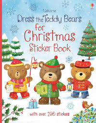 dress the teddy bears for christmas sticker book u201d at usborne