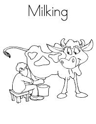 prechooler milking cow coloring pages color luna